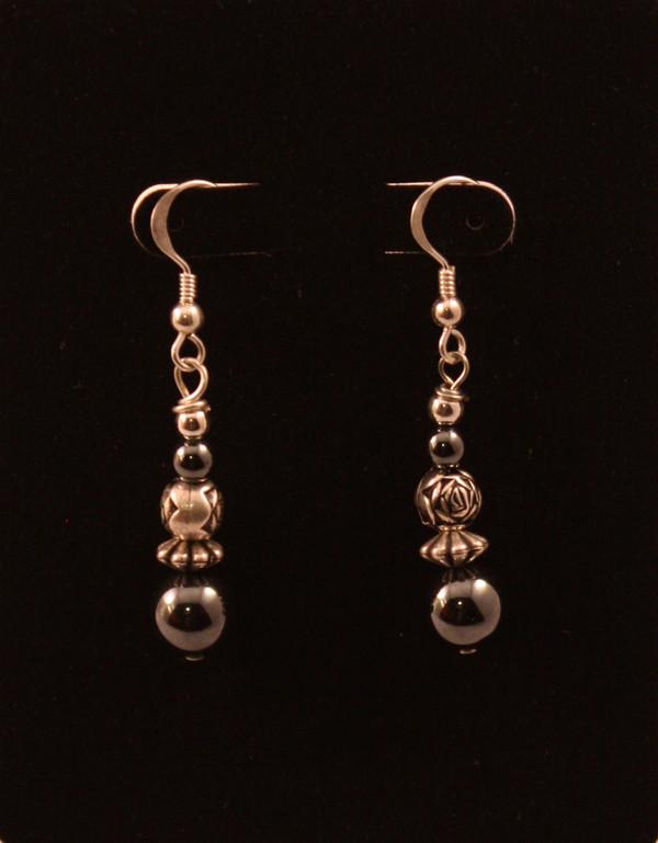 Hematite Bead Earrings