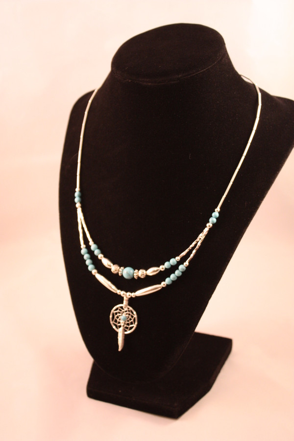 Dream Catcher Necklace with Turquoise
