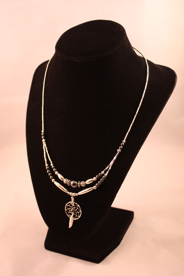 Dream Catcher Necklace with Hematite