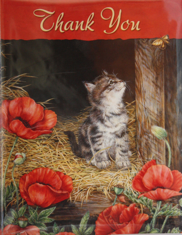 Thank You with Kitten Note Cards