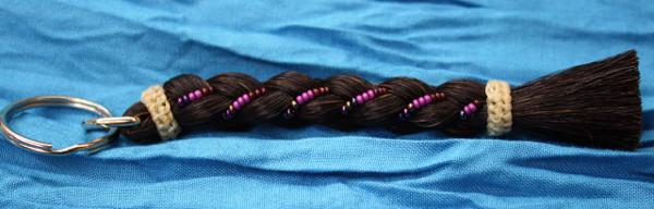 Horse Hair Key Chain, Black