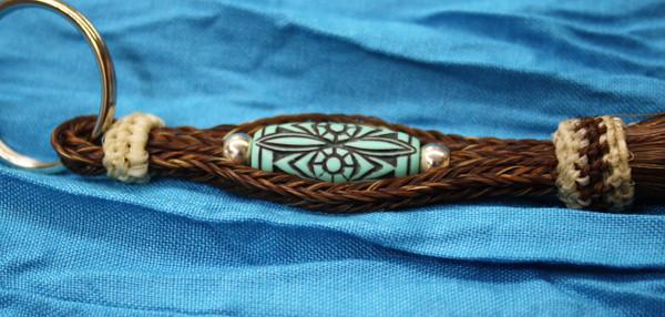 Horse Hair Key Chain with Bead