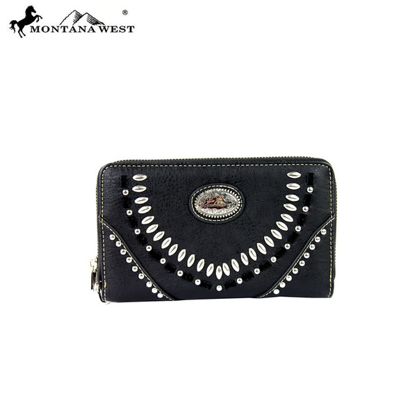 Concho Collection Wallet - Black