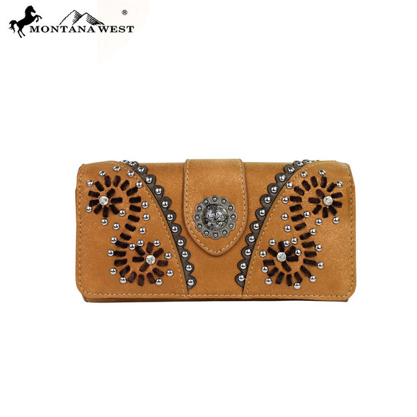 Concho Collection Wallet - Brown