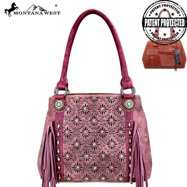 Fringe Collection Hobo Bag- Red