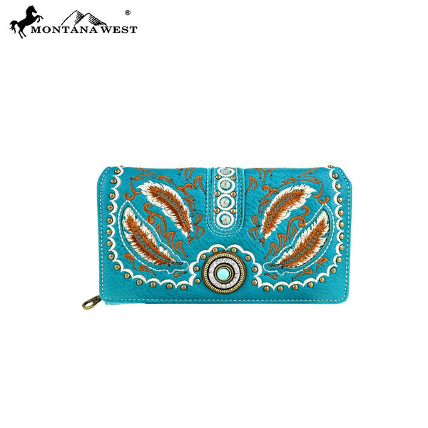 Concho Collection Crossbody Bag- Turquoise