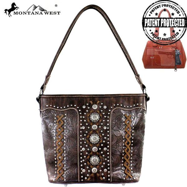 Concho Collection Hobo Bag- Coffee