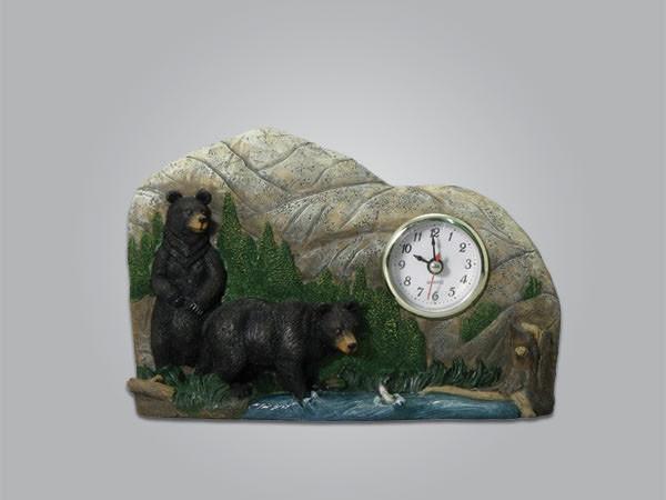 Bear Scene Clock