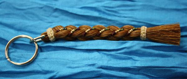 Horse Hair Key Chain, Brown