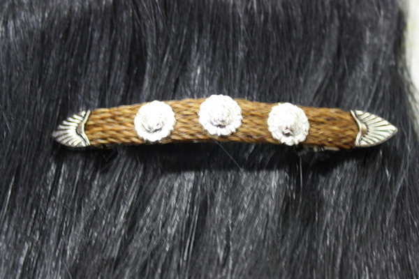 Horse Hair Rosette - Brown