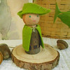 Woodsman, inspired by Making Peg Dolls book