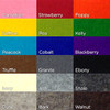 3mm Thick Wool Felt Color Chart