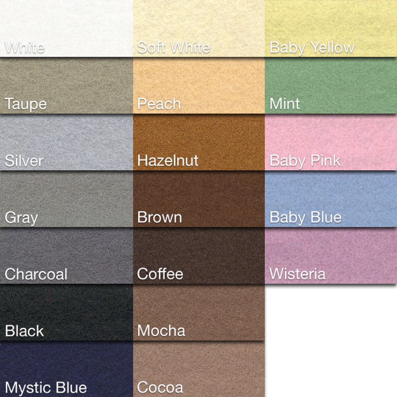 Neautral Colors: Holland Wool Felt Neutral, Baby Colors, Yards + Cuts