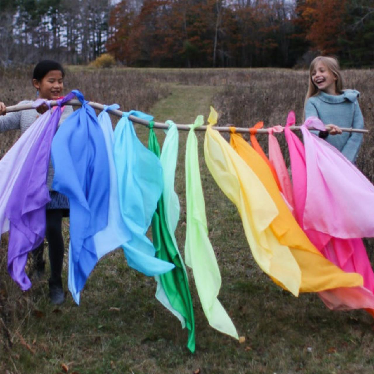 Play Silks   Dyed Silk Scarves   Sarah's Silks   A Child's Dream