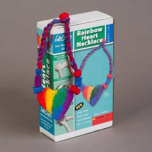 Wet Felting Kit - Rainbow Necklace