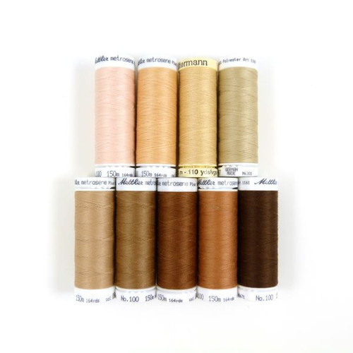 Skin Tone Sewing Thread - Set of 9