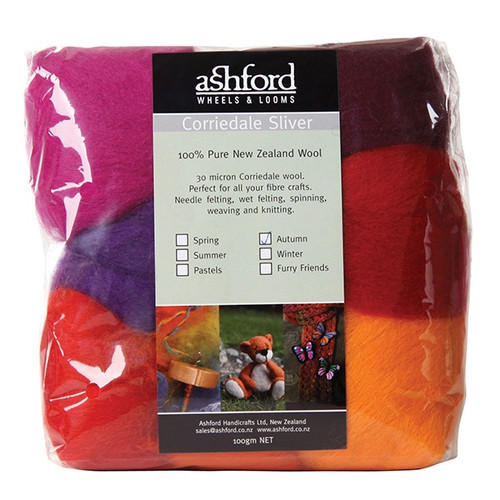 Ashford Corriedale Wool Roving Seasonal Pack - Autumn Harvest