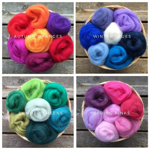 Ashford Corriedale Wool Roving Seasonal Packs