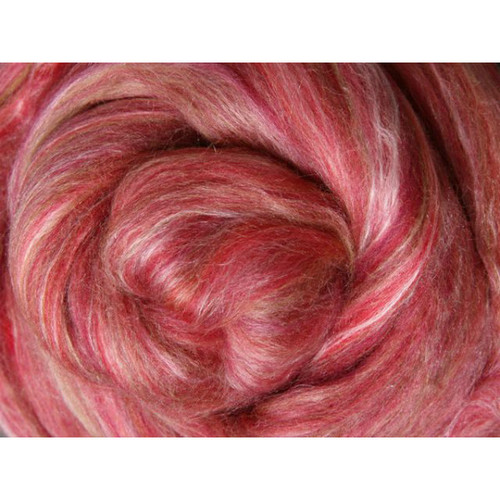 Ashford Silk Merino Fiber - Pomegranate
