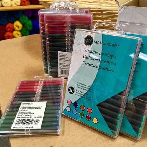 Fountain Pen Creative Ink Cartridges - 9 Color Set