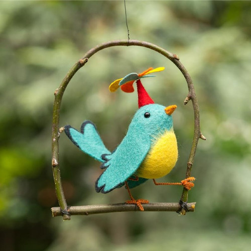 Felt Sewing Kit - Twirly Bird
