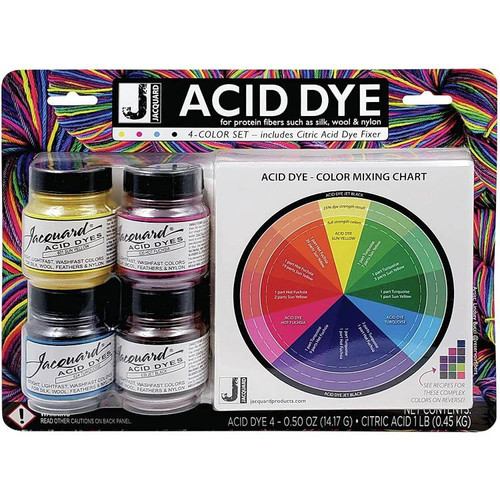 Jacquard Acid Dyes - 4 Color Set (for silk and wool)