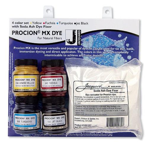Jacquard Procion MX Dyes - 4 Color Set (for cotton and more)