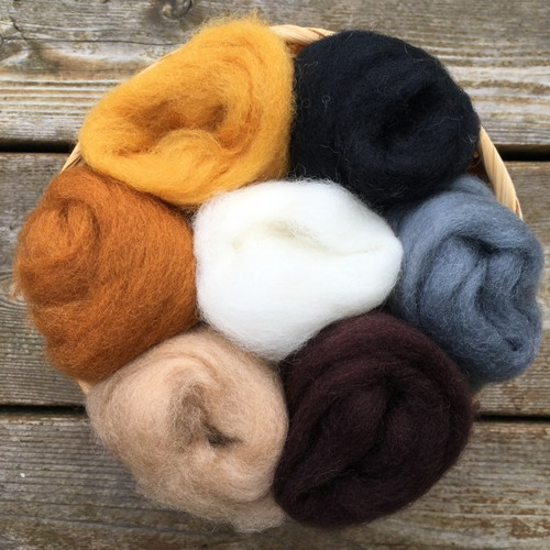 Ashford Corriedale Wool Roving Pack - Furry Friends