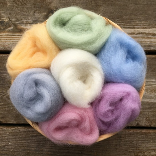 Ashford Corriedale Wool Roving Pack - Pastels