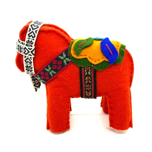 Wool Felt Dala Horse Kit
