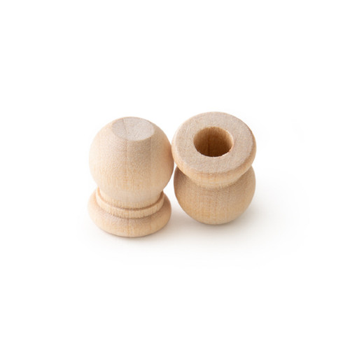 Wood Knitting Needle End Caps (Pair)