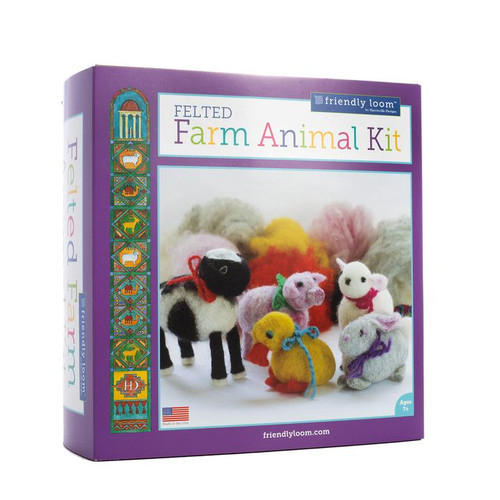 Wet Felting - Farm Animals Kit