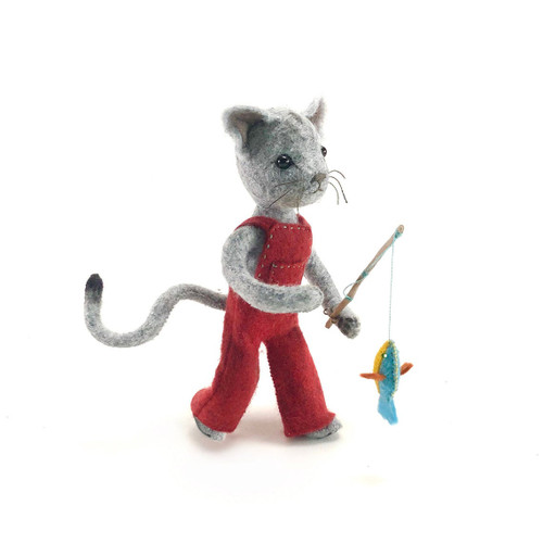 Felt Sewing Kit - Calvin Cat