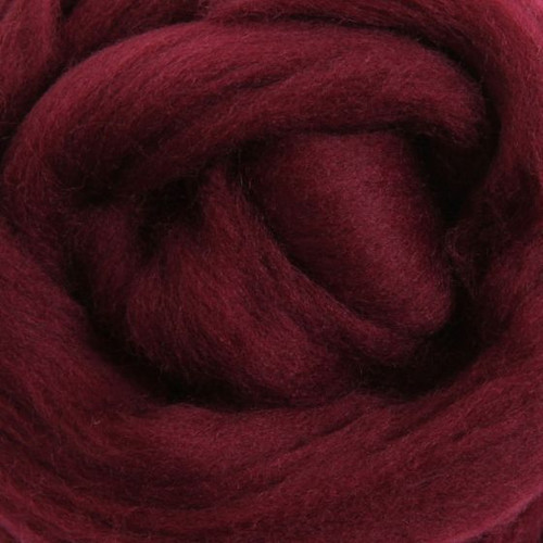 Ashford Dyed Merino Wool Top - Aubergine