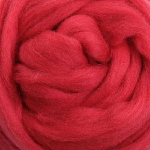 Ashford Dyed Merino Wool Top - Strawberry (Berry)