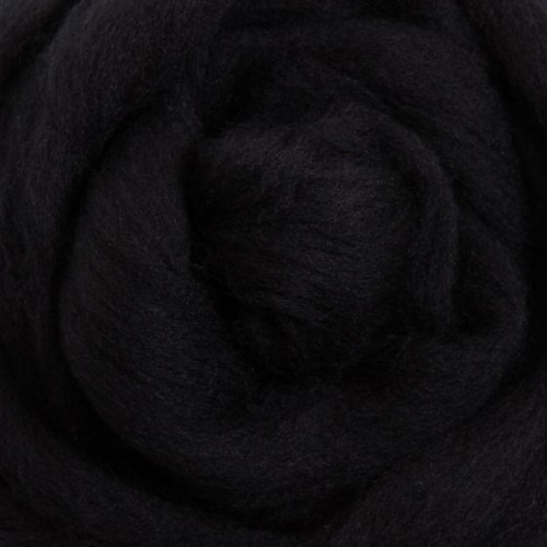 Ashford Dyed Merino Wool Top - Liquorice (Black)