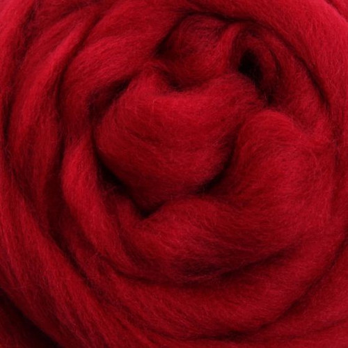 Ashford Dyed Merino Wool Top - Cherry Red