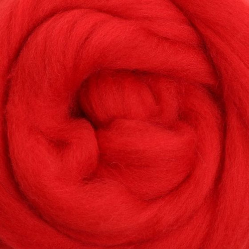 Ashford Dyed Merino Wool Top - Chilli Pepper