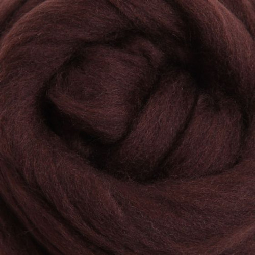 Ashford Dyed Merino Wool Top - Chocolate