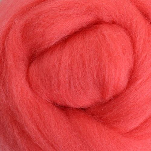 Ashford Dyed Merino Wool Top - Coral