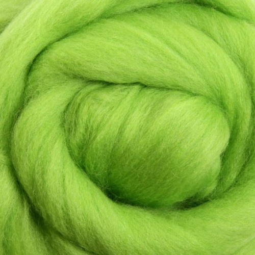 Ashford Dyed Merino Wool Top - Lime