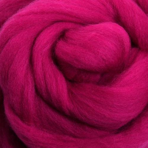 Ashford Dyed Merino Wool Top - Magenta