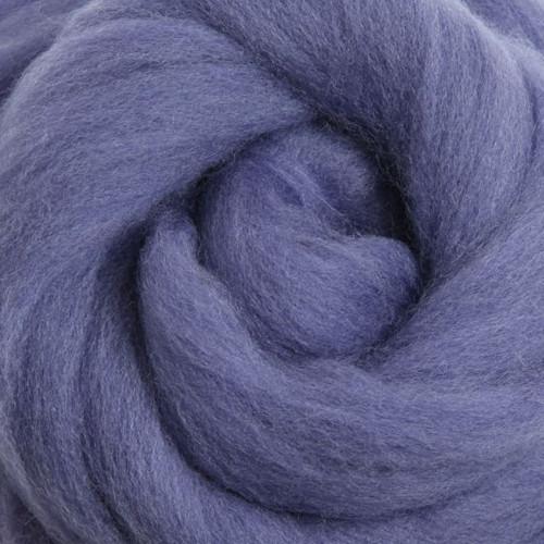 Ashford Dyed Merino Wool Top - Blueberry Pie (Periwinkle)
