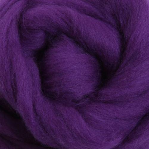 Ashford Dyed Merino Wool Top - Purple