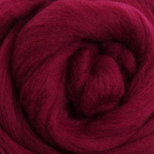 Ashford Dyed Merino Wool Top - Raspberry