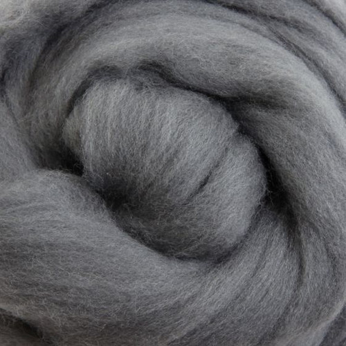 Ashford Dyed Merino Wool Top - Grey (Smoke)