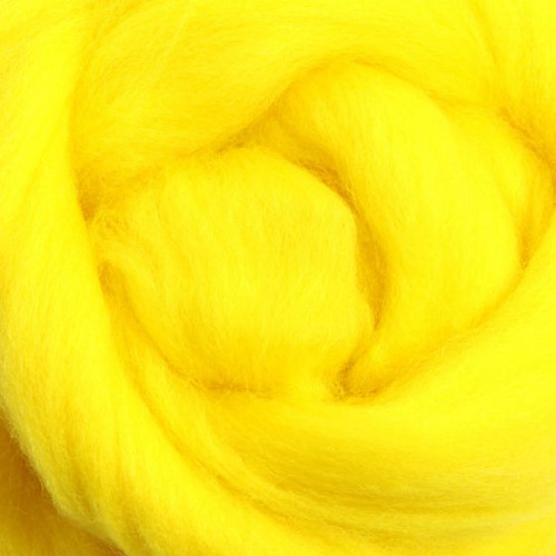 Ashford Dyed Merino Wool Top - Yellow