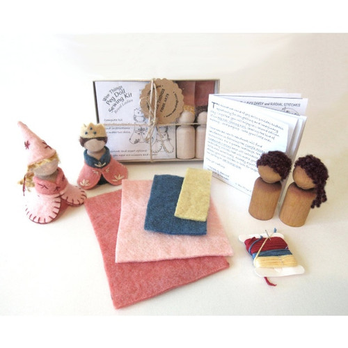 Peg Doll Hand Sewing Kit - Royal Ladies