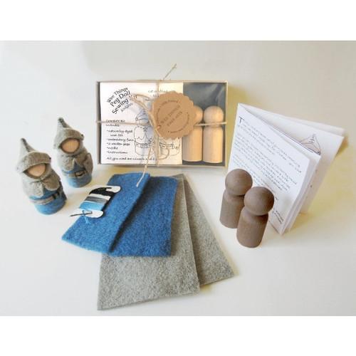 Peg Doll Hand Sewing Kit - Knights