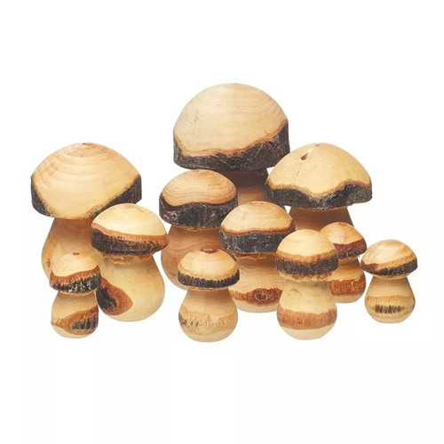 Little Wood Live Edge Toadstools - Set of 11